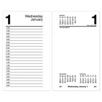 At-A-Glance E717R50 3 1/2 inch x 6 inch White 2021 Recycled Desk Calendar Refill