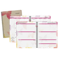 At-A-Glance 791905G Watercolors 8 1/2 inch x 11 inch January 2019 - January 2020 Weekly / Monthly Planner