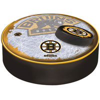 Holland Bar Stool BSCBosBru-D2 14 1/2 inch Boston Bruins Vinyl Bar Stool Seat Cover