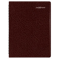 At-A-Glance G52014 DayMinder 8 inch x 11 inch Burgundy January 2018 - December 2018 Weekly Appointment Book