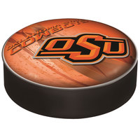 Holland Bar Stool BSCOKStUn-D2 14 1/2 inch Oklahoma State University Vinyl Bar Stool Seat Cover