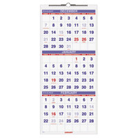 At-A-Glance PM1128 12 inch x 27 inch Vertical 3-Month Reference December 2017 - January 2019 Wirebound Wall Calendar