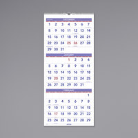 At-A-Glance PM1128 12 inch x 27 inch Vertical 3-Month Reference December 2019 - January 2021 Wirebound Wall Calendar