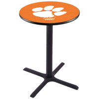 Holland Bar Stool L211B36CLMSON 28 inch Round Clemson University Pub Table