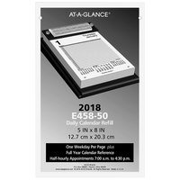 At-A-Glance E45850 5 inch x 8 inch Pad Style Daily 2019 Calendar Refill