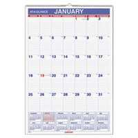 At-A-Glance PM328 15 1/2 inch x 22 3/4 inch Monthly January 2018 - December 2018 Wall Calendar with Ruled Daily Blocks