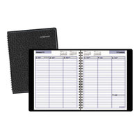 At-A-Glance G59500 DayMinder 8 inch x 8 1/2 inch Black January 2018 - December 2018 Weekly Appointment Book