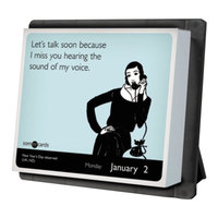 At-A-Glance LMB26000 5 1/4 inch x 6 1/8 inch Year In A Box SomeECards January 2019 - December 2019 Desk Calendar