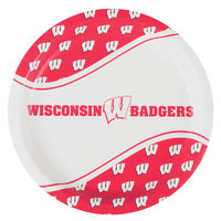 Creative Converting 424858 9 inch University of Wisconsin Paper Plate - 96/Case