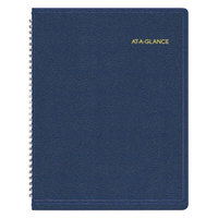At-A-Glance 7095020 8 1/4 inch x 10 7/8 inch Navy January 2018 - January 2019 Weekly Appointment Book