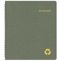 At-A-Glance 70260G60 9 inch x 11 inch Green January 2018 - January 2019 Recycled Monthly Planner