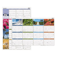 At-A-Glance PA133 24 inch x 36 inch Seasons in Bloom Reversible Horizontal / Vertical Erasable January 2019 - December 2019 Wall Planner