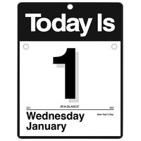At-A-Glance K450 8 inch x 8 1/2 inch White January 2020 - December 2020 Today Is Wall Calendar Refill