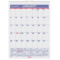 At-A-Glance PM128 8 inch x 11 inch Monthly January 2019 - December 2019 Wirebound Wall Calendar