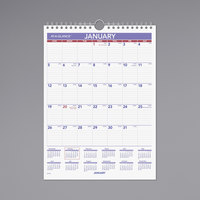 At-A-Glance PM128 8 inch x 11 inch Monthly January 2020 - December 2020 Wirebound Wall Calendar