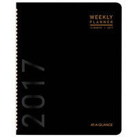 At-A-Glance 70120X05 6 7/8 inch x 8 3/4 inch Black January 2018 - December 2018 Contemporary Monthly Planner
