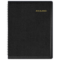 At-A-Glance 70950V05 8 1/4 inch x 10 7/8 inch Black January 2019 - December 2019 Triple View Weekly / Monthly Appointment Book
