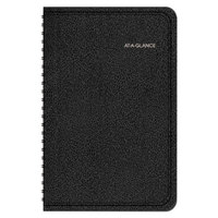 At-A-Glance 760205 4 7/8 inch x 8 inch Black January 2019 - December 2019 QuickNotes Weekly / Monthly Appointment Book
