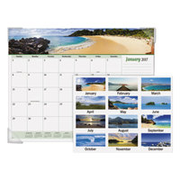 At-A-Glance 89803 22 inch x 17 inch 2019 Seascape Panoramic Desk Pad