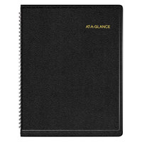 At-A-Glance 7095005 8 1/4 inch x 10 7/8 inch Black January 2019 - January 2020 Weekly Appointment Book
