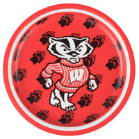 Creative Converting 332991 7 inch University of Wisconsin Paper Plate - 96/Case