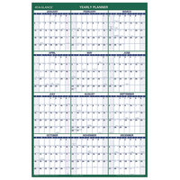 At-A-Glance PM21028 24 inch x 36 inch Green / White Vertical Erasable January 2020 - December 2020 Wall Planner