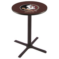 Holland Bar Stool L211B36FSU-HD 28 inch Round Florida State University Pub Table