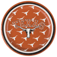 Creative Converting 414847 7 inch University of Texas Paper Plate - 96/Case