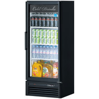 Turbo Air TGM-12SD Super Deluxe Series 26 inch Black Single Glass Door Refrigerated Merchandiser