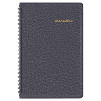 At-A-Glance 7007505 4 7/8 inch x 8 inch Black January 2018 - December 2018 Weekly Appointment Book