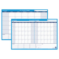 At-A-Glance PM23328 36 inch x 24 inch White/Blue 30 / 60 Day Undated Horizontal Erasable Wall Planner