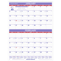 At-A-Glance PM928 22 inch x 29 inch 2-Month Reference January 2020 - December 2020 Wirebound Wall Calendar