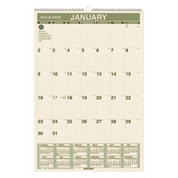 At-A-Glance PM3G28 15 1/2 inch x 22 3/4 inch Green Monthly January 2019 - December 2019 Wirebound Wall Calendar