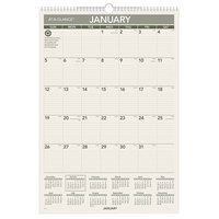 At-A-Glance PM3G28 15 1/2 inch x 22 3/4 inch Green Monthly January 2020 - December 2020 Wirebound Wall Calendar