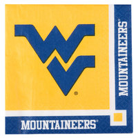 Creative Converting 654895 West Virginia University 2-Ply Beverage Napkin - 240/Case