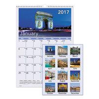 At-A-Glance DMW40228 12 inch x 17 inch European Destination Monthly January 2018 - December 2018 Wirebound Wall Calendar