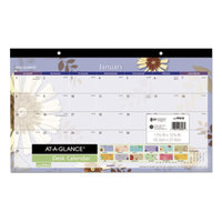 At-A-Glance PF5032 17 3/4 inch x 10 7/8 inch 2019 Paper Flowers Compact Monthly Desk Pad