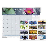 At-A-Glance 89801 22 inch x 17 inch 2019 Motivational Panoramic Desk Pad