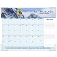 At-A-Glance 89801 22 inch x 17 inch 2020 Motivational Panoramic Desk Pad