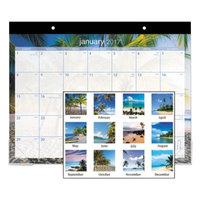 At-A-Glance DMDTE232 22 inch x 17 inch 2019 Tropical Escape Desk Pad