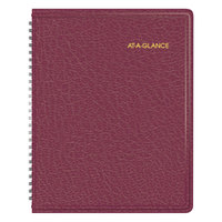 At-A-Glance 7012050 6 7/8 inch x 8 3/4 inch Winestone January 2018 - December 2018 Monthly Planner