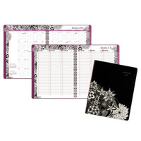 At-A-Glance 589905 Floradoodle 9 3/8 inch x 11 3/8 inch Professional January 2019 - January 2020 Weekly / Monthly Appointment Book