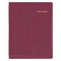 At-A-Glance 7095050 8 1/4 inch x 10 7/8 inch Winestone January 2018 - January 2018 Weekly Appointment Book