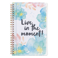 At-A-Glance 187201 B-Positive 5 3/8 inch x 8 1/8 inch Live In The Moment January 2018 - December 2018 Weekly / Monthly Planner