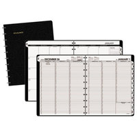 At-A-Glance 70950E05 8 3/4 inch x 11 inch Move-A-Page Black January 2018 - December 2018 Weekly / Monthly Appointment Book
