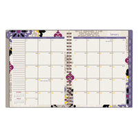 At-A-Glance 122905 Vienna 8 1/2 inch x 11 inch Purple January 2018 - December 2018 Weekly / Monthly Planner