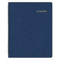 At-A-Glance 7026020 8 7/8 inch x 11 inch Navy January 2019 - March 2020 Monthly Planner