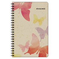 At-A-Glance 791200G Watercolors 5 1/2 inch x 8 1/2 inch January 2018 - December 2018 Weekly / Monthly Planner