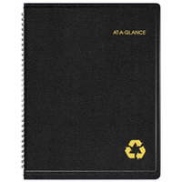 At-A-Glance 70950G05 8 1/4 inch x 10 7/8 inch Black January 2018 - December 2018 Classic Weekly / Monthly Appointment Book