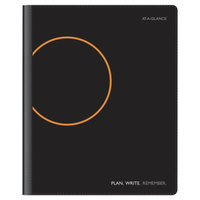 At-A-Glance 70620605 9 1/8 inch x 10 15/16 inch Plan. Write. Remember. Black January 2018 - June 2019 Academic Monthly Planner and Notebook